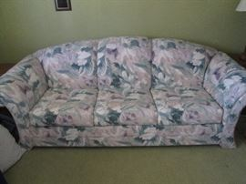 Peach and Blue Colors Sofa Bed