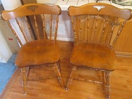 2-Side Chairs.  They match the previous 4-Arm Chairs and can be purchased with them or sold separately