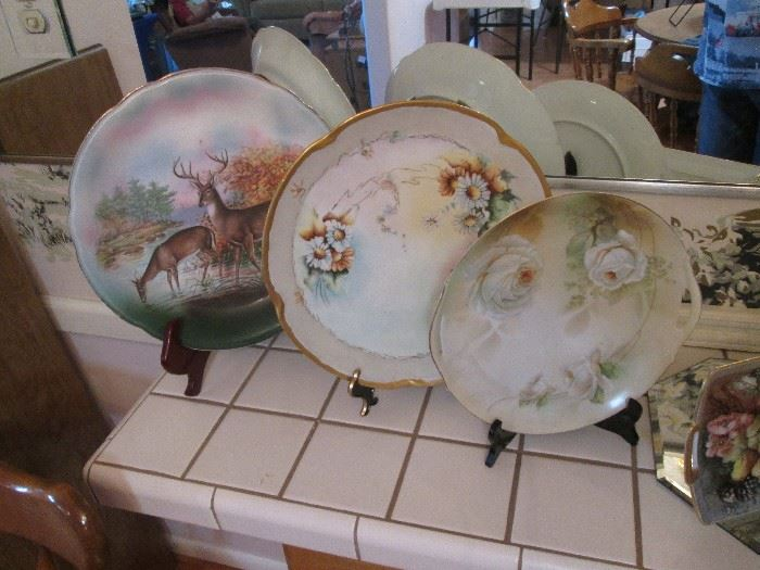 Painted Plates/Bowls plus other Collectible Plates