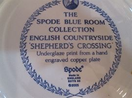 """Larger Spode Plates, """"English Countryside-Shepherd's Crossing"""""""