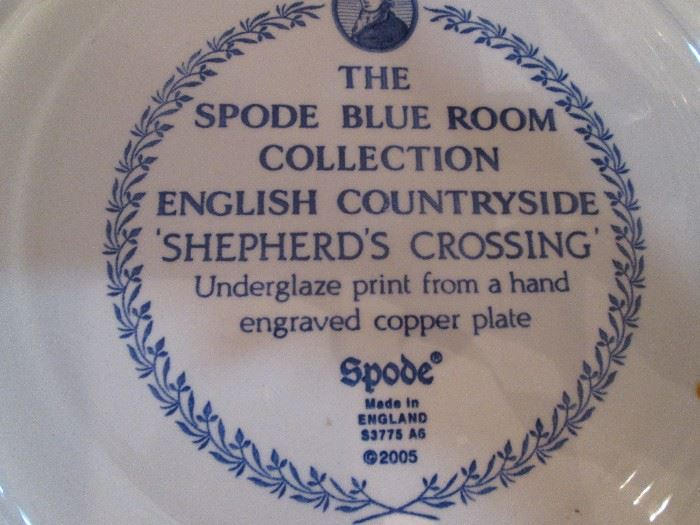 "Larger Spode Plates, ""English Countryside-Shepherd's Crossing"""
