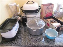 "Small Appliances, plus Vintage ""Household Institute"" Aluminum Pot with Glass Lid"