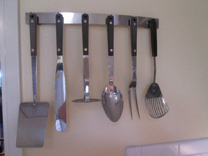 Kitchen Tool Set with Rack