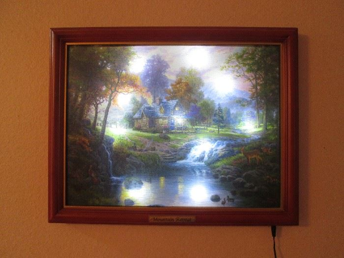 """Mountain Retreat"" by Thomas Kinkade, Lighted"
