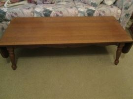 Drop-Leaf Coffee Table, Traditional Style