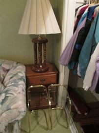 Accent Tables and Table Lamp