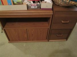 2-Drawer File Cabinet and Storage Unit