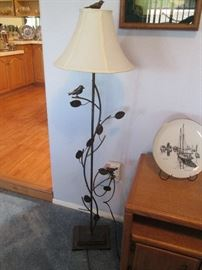 Cute Floor Lamp, notice the bird on top!
