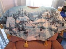 Kinkade Christmas Tree Skirt