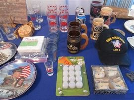 Steins, Military, Golf and Assorted Collectibles