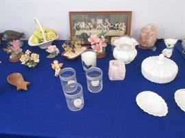 Milk Glass Serving Pieces and Small Treasures