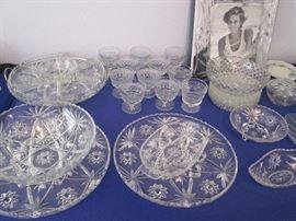 Variety of Pressed Glass