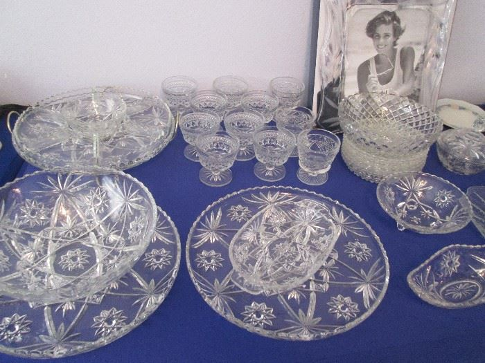 Variety of Pressed Glass