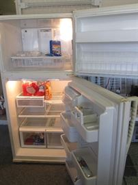 "Interior View of ""Maytag Plus"" Refrigerator"