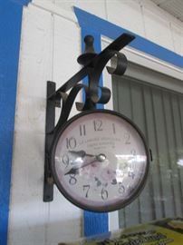 Clock on Bracket