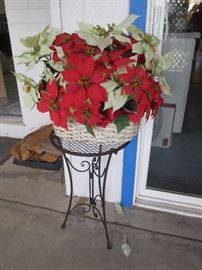 Floral Arrangment and Plant Stand