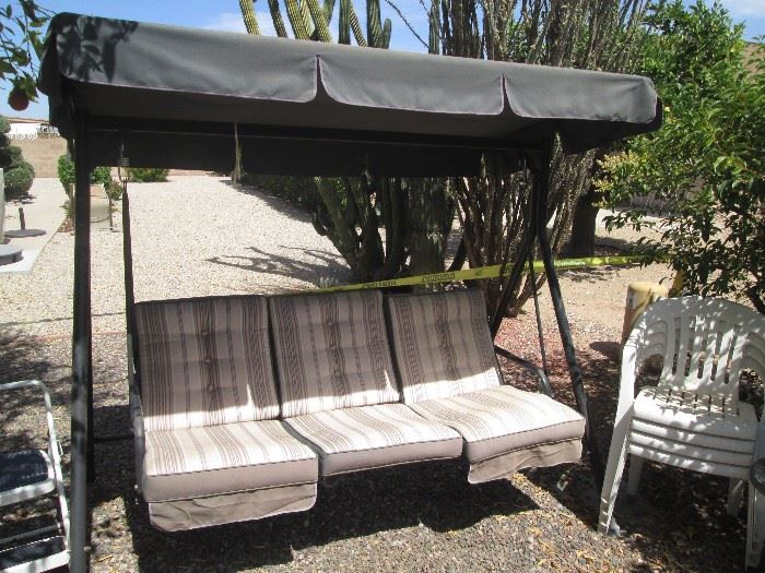 3-Seater Swing with Awning