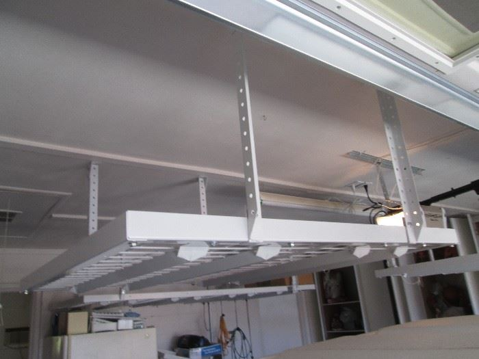 3-Garage Ceiling Storage Shelves:  Sizes: 1-4' X 8'           2-4' X 4'