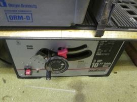 """Ohio Forge Table Saw, 3 HP, 10"""" Blade"""