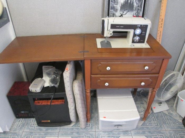 Vintage Sears Kenmore Sewing Machine with Cabinet, #158.17741