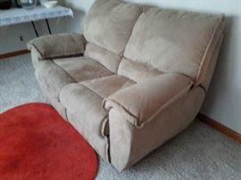 2 seat recliner love seat/ sofa microfiber