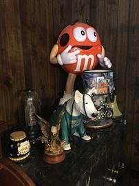 M&M, Budweiser, Harley Davidson collectables