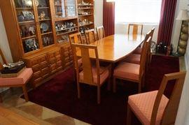 MID CENTURY HANDMADE TEAK DININGROOM SET MADE IN JAPAN