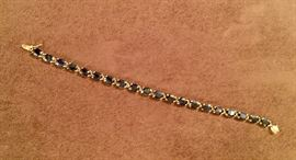 14kt yellow gold and sapphire bracelet.