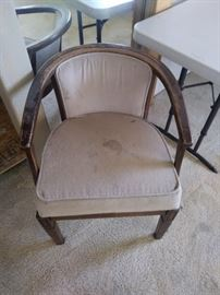 Tan chair.