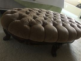 Composition tufted ottoman at a fraction of price