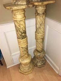 "Circa 1900, marble pedistals 40"" tall"