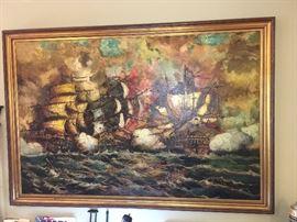 Original oil on canvas by Van Thosen