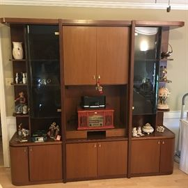 Stunning wall unit display system-brought from Overton erseas military travels vintage Asian Contempoary flair