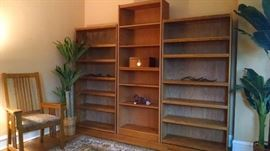 LARGE DISPLAY WOODEN BOOK SHELVES