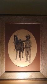 **SIGNED/ DATED*** DON GARLICK WESTERN PRINT