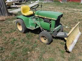 John Deere 110 Mower with Blade