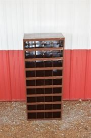 Metal Parts Organizer Bin Shelf