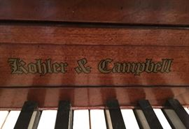 3. Kohler & Campbell Upright Piano