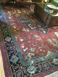 17. Antique Heriz Rug w/ Wear (12'9'' x 9'8'')