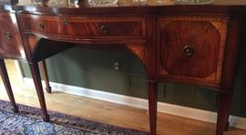 28. Mahogany & Satinwood Sideboard (6'1'' x 24'' x 37'')