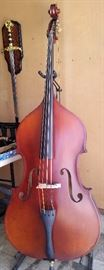 C. Meisel (Carl Meisel) 3/4 Upright Bass with soft case & stand. Made in West Germany and in fantastic condition. Must see in person to really appreciate.