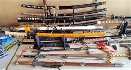 Sword, knife & pocket knife collection.