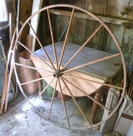 Large Antique Buggy Wheel