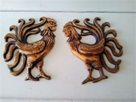 Cast Iron Roosters