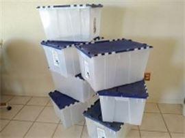 Contico Split Top Storage Totes