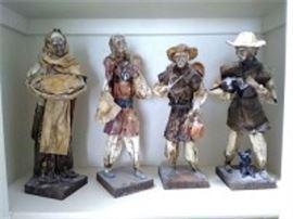 Paper Mache Folk Art Dolls