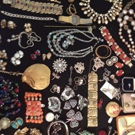 Vintage costume jewelry, sterling James Avery jewelry, all in good shape.