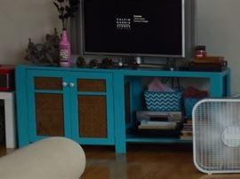 Blue tv stand/shelf
