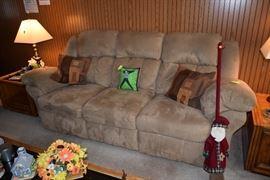 Sofa, pillows, decor