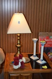 Table lamp, candle holders